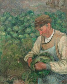 Pissarro, Camille  French, 1830 - 1903  The Gardener - Old Peasant with Cabbage
