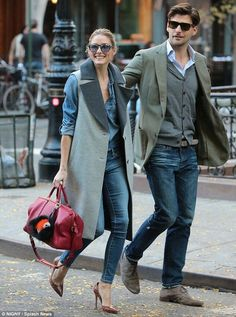 The Olivia Palermo Lookbook : Olivia Palermo and Johannes Huebl in NYC