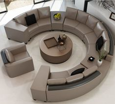 The Amazing Circular Sofa – Sofa Design 2020 Living Room Sofa Design, Living Room Sectional, Home Room Design, Bed Design, Living Room Designs, Sectional Sofas, Sofa Furniture, Living Room Furniture, Living Rooms