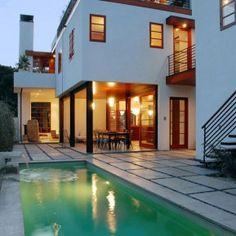 The Contemporary Home Pool Design In Venice Beach California