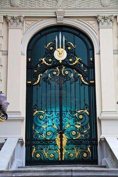 The beautiful door of Royal Grand Palace, Bangkok, Thailand