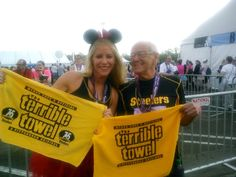 84 year old runs his first race at Disney 5k