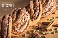 "Vegan Scandinavian Inspired ""Nusszopf"" (Nut Braid) // Ginger and Mint Vegan Sweets, Vegan Food, Vegan Recipes, Scandinavian Food, Pulled Pork, Cheesesteak, Braid, Travelling, Diy Ideas"