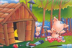 """Hola amigos, estamos trabajando el cuento de """"Los tres cerditos y el lobo"""". Aquí os dejo algunas actividades que se pueden realizar con ... Preschool Spanish, Film D, Poster Drawing, Three Little Pigs, Stories For Kids, Painting For Kids, Conte, Cartoon Characters, Ideas Para"""