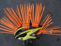 The Cable Tie Helmet Hairdo - How Cool is this? http://www.hellermanntyton.co.za/site/products/cable-ties