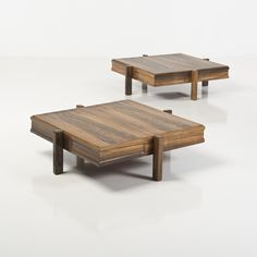 Gianfranco Frattini; Rosewood Coffee Tables, 1950s.