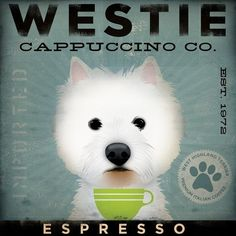West Highland Terrier Westie Coffee Company by geministudio, $24.00