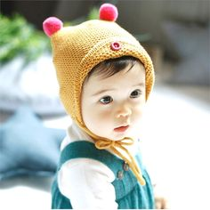 Kids Baby Lovely Cartoon Print Hat Soft Cute Cap Toddler Infant Autumn Winter Warm Beanie Bonnet