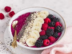 Healthy Smoothie, Smoothie Bowl, Smoothie Recipes, Healthy Foods, New Fruit, Eating Plans, Fruits And Veggies, Acai Bowl, Tasty