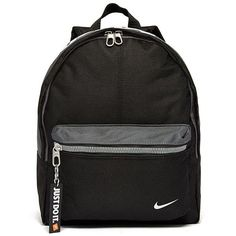 Nike Just Do It Mini Backpack found on Polyvore featuring bags, backpacks, accessories, sport backpack, white backpack, black key ring, miniature backpack and mini key ring