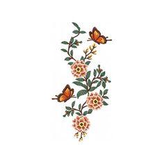 Machine Embroidery Design - Flower Garden And Butterflies #06