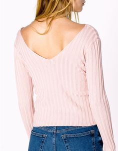 V-NECK DOUBLE LAYER PEARL KNIT SWEATER - NEW PRODUCTS - WOMAN - PULL&BEAR United Kingdom