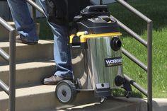 WORKSHOP Wet/Dry Vacs WS1600SS Stainless Steel 6.5-Peak Wet Dry Vacuum Cleaner