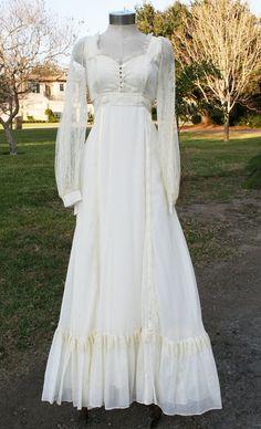 Backyard Bride Circa 1970s Coton Gauze Hippie By Callmechula 75 00 Style Wedding Dresses