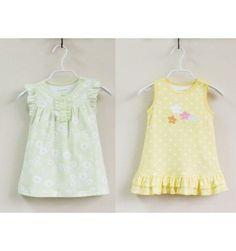 Mom and Bab Dress 2 in 1 - Yellow Green Flower - sadinashop.com  Gaun cantik untuk bayi dan anak.
