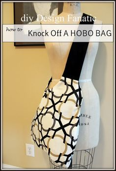 hobo bag, sewing project, fabric hobo bag, make strap not so wide