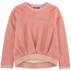 Cotton fleece Longer cut in the back Crew neck Long sleeves Front pleats Ribbed knit trims Shiny effect Brand print on the front - € Kids Outfits, Casual Outfits, Neue Outfits, Fashion Details, Fashion Design, Mode Hijab, Mode Inspiration, Long Sweaters, Refashion