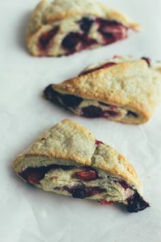 mixed berry scones with creme fraiche and lavender | the vanilla bean blog
