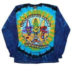 Grateful Dead - Beach Bear Bingo - Long Sleeve Tie Dye T Shirt – Blue Mountain Tie Dye