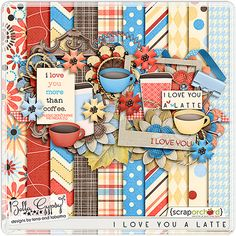 Quality DigiScrap Freebies: I Love You A Latte mini kit freebie from Bella Gypsy Designs