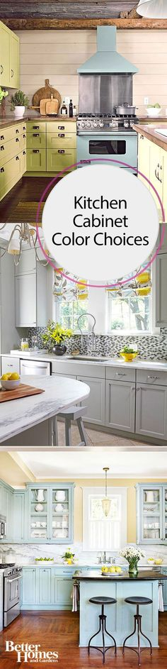 Whether you buy colorful cabinets or paint them yourself, you'll love getting color ideas and inspiration from this roundup of the best kitchen cabinet color choices you can make. These popular kitchen color combinations and color trends will spark your imagination.