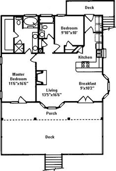 Total depth including front and rear decks is Front deck is deep. Small rear deck is deep. Coastal House Plans, Beach House Plans, Country Style House Plans, Small House Plans, Beach Cottage Decor, Coastal Cottage, Coastal Homes, Cottage Plan, Cottage Homes