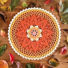 Oh Milly!: Autumn Doily Tutorial