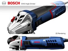 Bosch GWS Angle Grinder Design on Behance