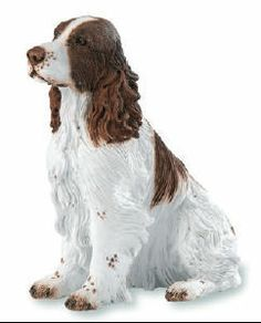 Springer Spaniel Dog Figurine - Country Artists Enesco. Measurement: 4.13in l x 2.16in w x 4in h Manufacturer: Enesco Material: Stone Resin