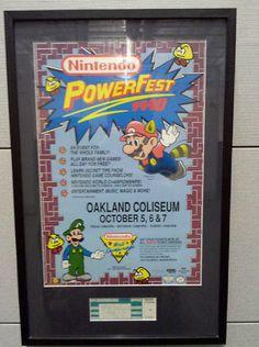 1990 Nintendo PowerFest Event Poster.