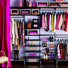 I mean... I'm not crazy about fuschia, but if I could get my closet down to THIS, that would be AWESOME