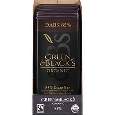Green  Blacks Organic Dark Chocolate 85 Cacao 35 Ounce Pack of 10 * Be sure to check out this awesome product.