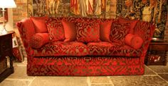 At Hines of Oxford we have a superb range of tapestry wall hangings, fabrics, decorative cushions and early oak replica furniture in classic styles available to custom order. Knole Sofa, Decorative Cushions, Formal Living Rooms, Tapestry Wall Hanging, Classic Style, Lounge, Room Decor, Luxury, Tudor