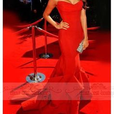 Vogue Red Mermaid Emmy Awards Celebrity Party Long Prom Ball Gown Evening Dress   eBay