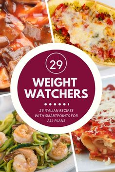 29 Mouth Watering Weight Watchers Italian Recipes for All Plans with SmartPoints. No matter what WW Plan you are on youll find an Italian favorite Weight Watchers Meal Plans, Weight Watchers Diet, Healthy Eating Recipes, Healthy Snacks, Healthy Italian Recipes, Weight Watchers Spaghetti Squash Recipe, Ww Recipes, Cooking Recipes, Italy