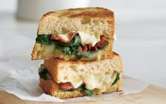 Garlicky Bacon & Spinach Grilled Cheese | MyFitnessPal