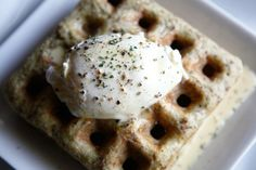 Amazing Paleo Paleo Recipes Savory Waffles with Poached Eggs and Hollandaise Sauce - Free Recipe