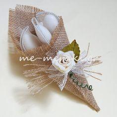 Μπομπονιέρα γάμου με λινάτσα. Με Μεράκι μπομπονιέρες, μπομπονιέρα, mpomponieres, mpomponiera    www.me-meraki.gr    Λ029