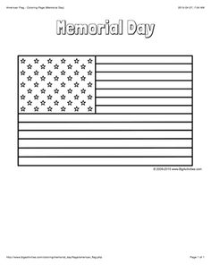 Printable Memorial Day coloring page Free PDF download at http