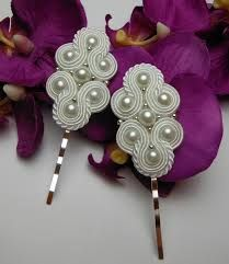 Check out our jewelry selection for the very best in unique or custom, handmade pieces from our shops. Veil Hairstyles, Wedding Hairstyles With Veil, Shibori, Diy Rings, Soutache Jewelry, Wedding Hair Accessories, Ring Necklace, Hair Pins, Wedding Jewelry