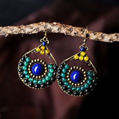 ethnic earrings for women trendy style blue stone bronze green black synthetic carnelian water drop hook vintage jewelry 2017-in Drop Earrings from Jewelry & Accessories on Aliexpress.com | Alibaba Group