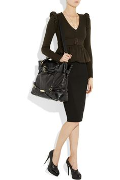 eddb12b4ff15 Burberry Buckle-detailed Leather Tote in Black