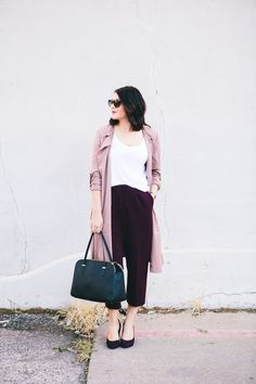 Im kind of loving this light pink color that is having a total moment this fall.