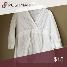 Maternity white shirt Good condition. Size small. Tops Blouses