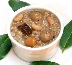 Ricetta Zuppa di fagioli castagne e funghi