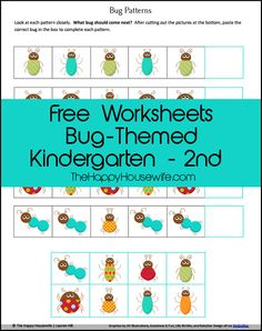 Bug Unit Study Worksheets And Printables