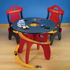 Personalized Kids Racetrack Table With 2 Chairs - Walmart.com