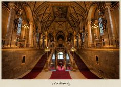 Inside the Magnificent Hungarian Parliament Building in Budapest - Photo © Ken kaminesky - The construction of the Parliament building began in 1885, inaugurated on the 1000th anniversary of the country in 1896  and in 1904 construction was completed. 40 million bricks were used in the building process as well as half a million precious stones and 40 kilograms (88 lb)  of gold! Inside the building there are 10 courtyards, 13 passenger and freight elevators, 27 gates, 29 staircases and 691…