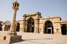 Jama Masjid built during 1424 CE in Ahmedabad (original name Karnavati) by Ahmed Shah I is hindu temple of Goddess Bhadrakali with carvings on pillars & ceilings