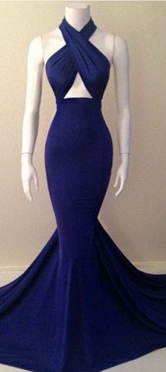 Navy blue mermaid dress